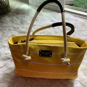KATE SPADE HIT THE DOCK RUDY TOTE - YELLOW STRIPE